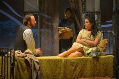 Rasheed (Haysam Kadri) and Laila (Nadine Malouf) in a scene from <strong><em>A Thousand Splendid Suns</em></strong>