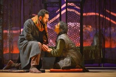 Pomme Koch (Tariq) and Nadine Malouf (Laila) in a scene from <em><strong>A Thousand Splendid Suns</strong></em>