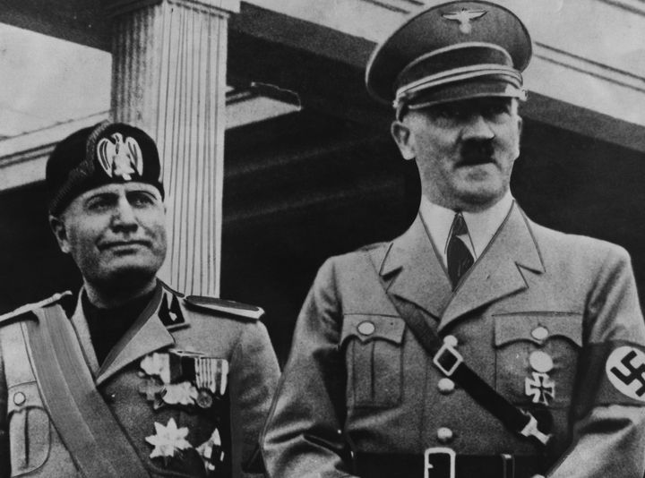 Benito Mussolini and Adolf Hitler. A Hitler pretender recently hit the streets in Austria.