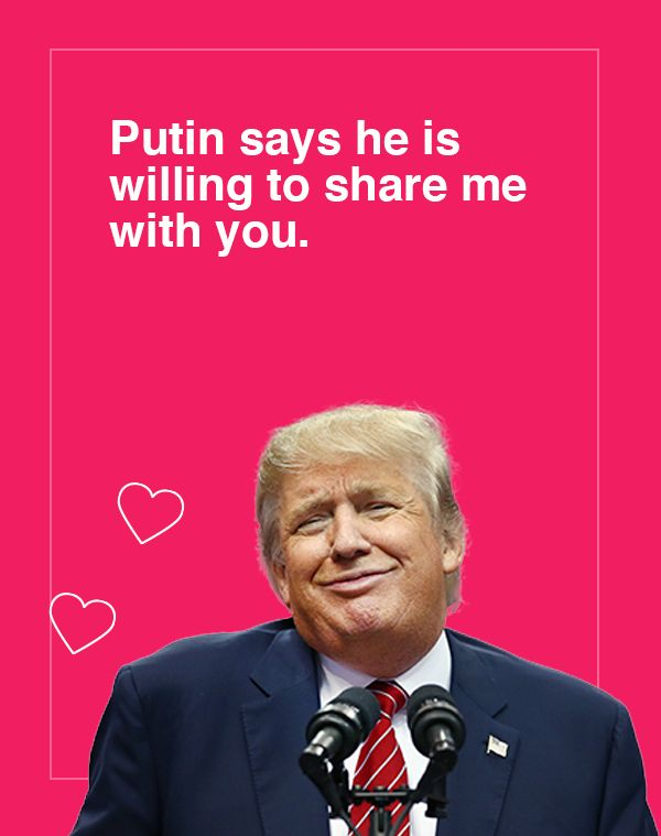 'Putin says he is willing to share me with