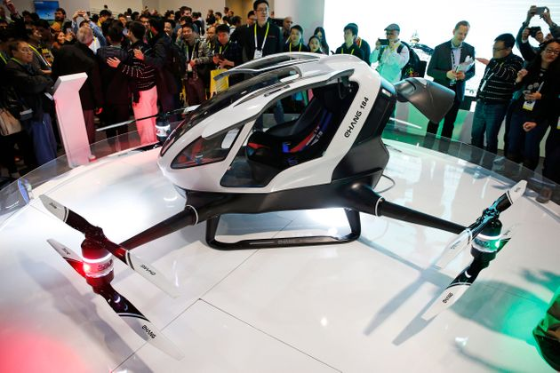Egg-shaped taxi drone to ferry passengers around Dubai by JULY