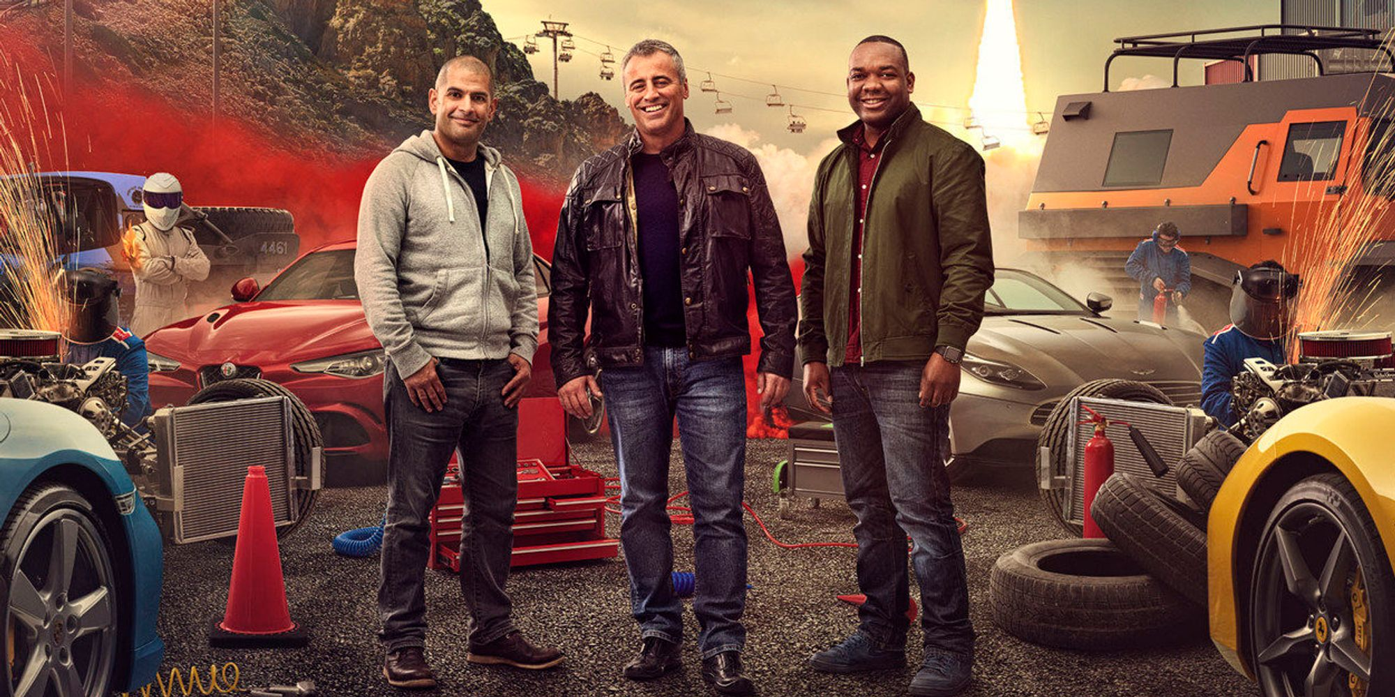 39 top gear 39 2017 start date revealed as promo shot of new presenters is unveiled huffpost uk. Black Bedroom Furniture Sets. Home Design Ideas