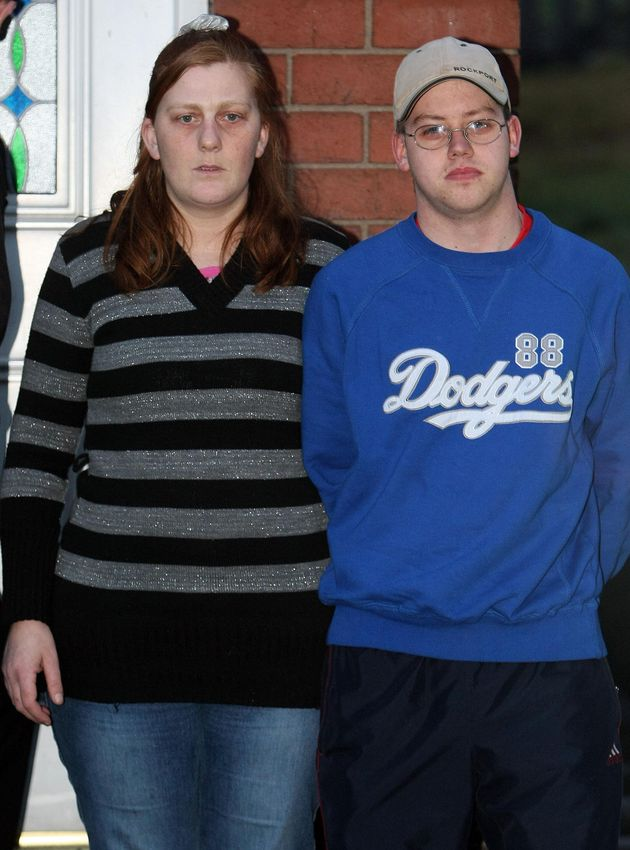 Matthews with Shannon's step father Craig Meehan, 22, outside their home in Dewsbury, West Yorkshire,...