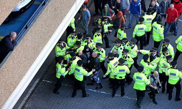 Police surround members of National Action in