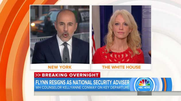 Kellyanne Conway in yet another rough