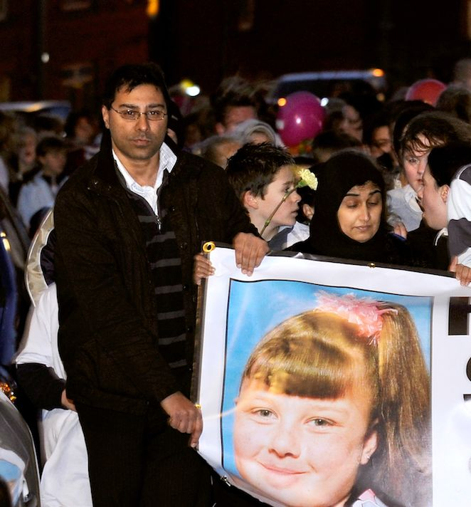 Local Labour councillor Mumtaz Hussain pictured holding a banner in the search for Shannon. He said nobody...