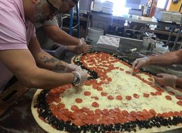 There's A New World's Largest Heart-Shaped Valentine's Pizza