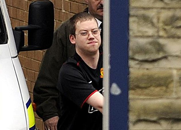 Meehan pictured at Dewsbury Police Station before answering child porn charges in