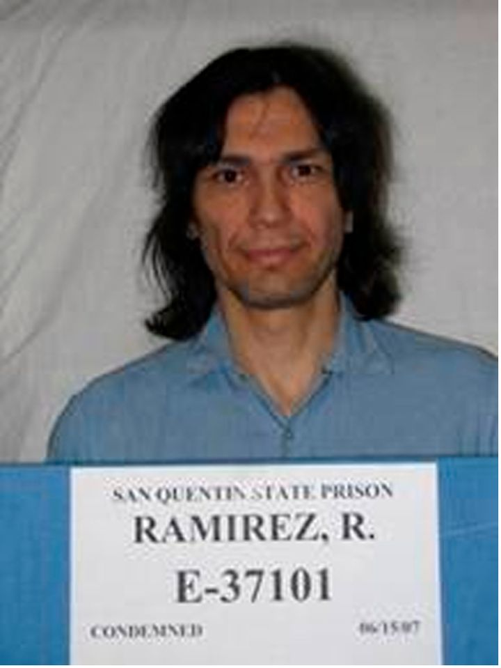 Richard Ramirez is shown in this San Quentin State Prison photo released on June 7, 2013.