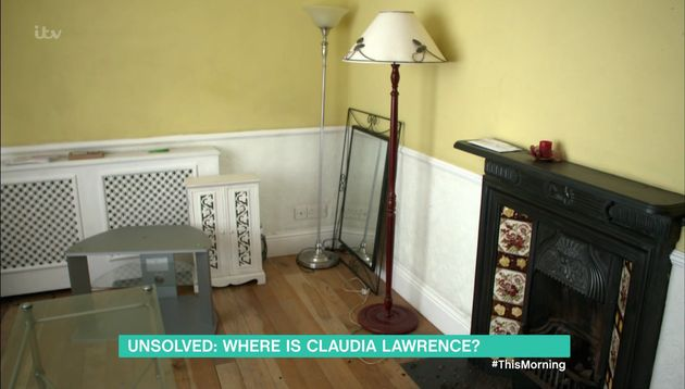 Inside Lawrence's flat, which until now has been sealed off to everyone other than her parents and the