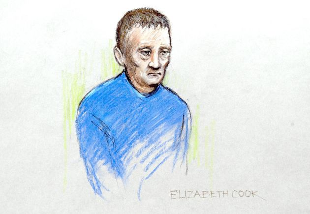 A court artists impression of Donovan in the dock at Dewsbury Magistrates Court in