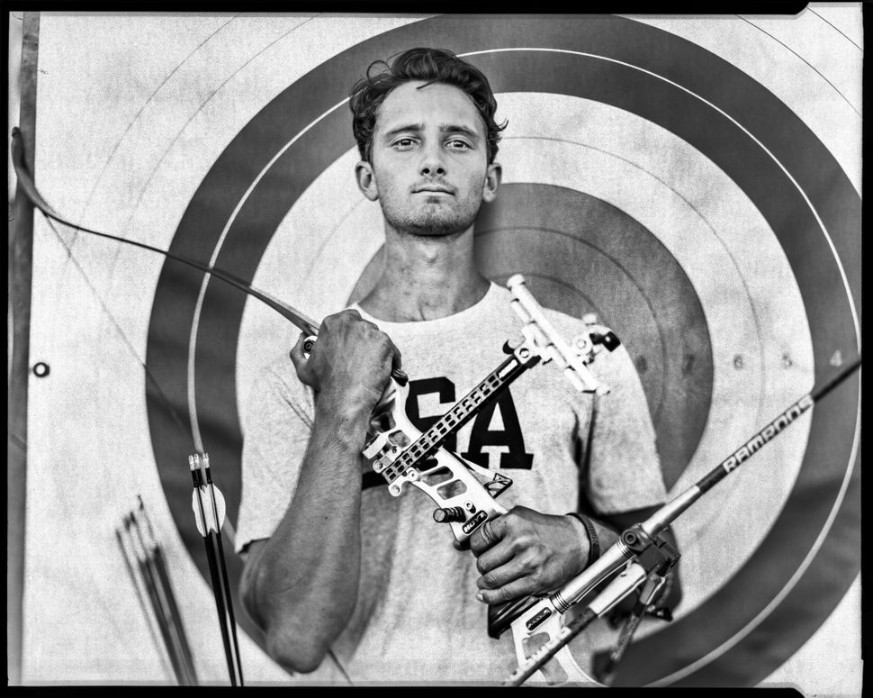 Zach Garrett, part of the U.S. archery team at the 2016 Rio Olympics, is photographed at the Olympic Training Center in