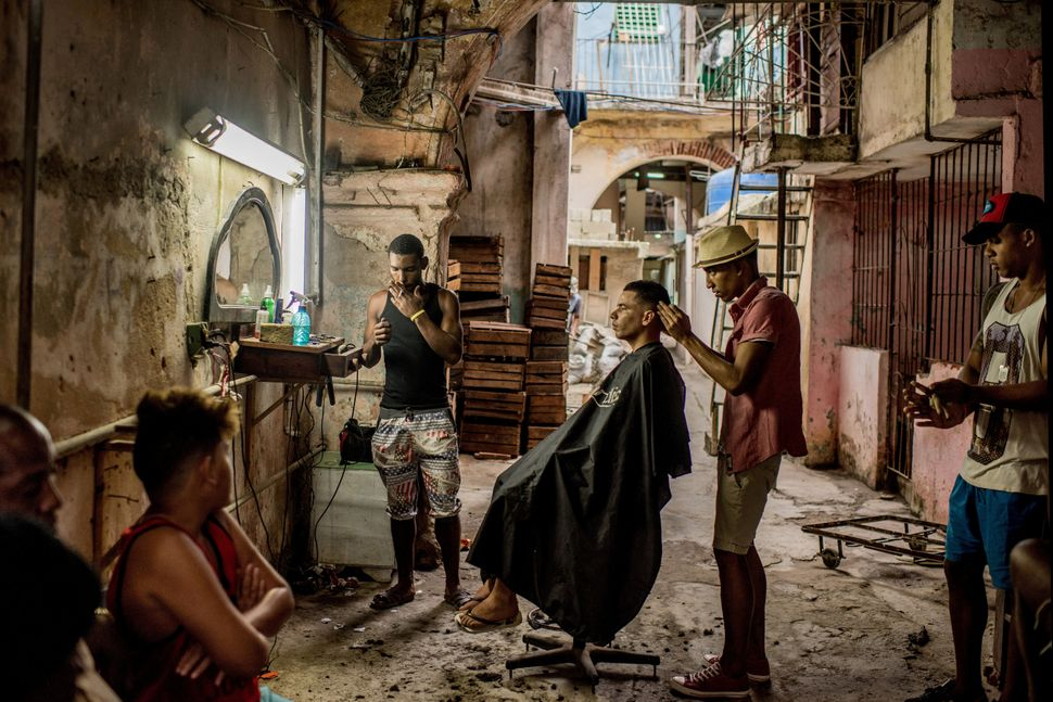 A weathered barber shop in Old Havana, Cuba. In December, days after Fidel Castro's death, his ashes were taken into the coun