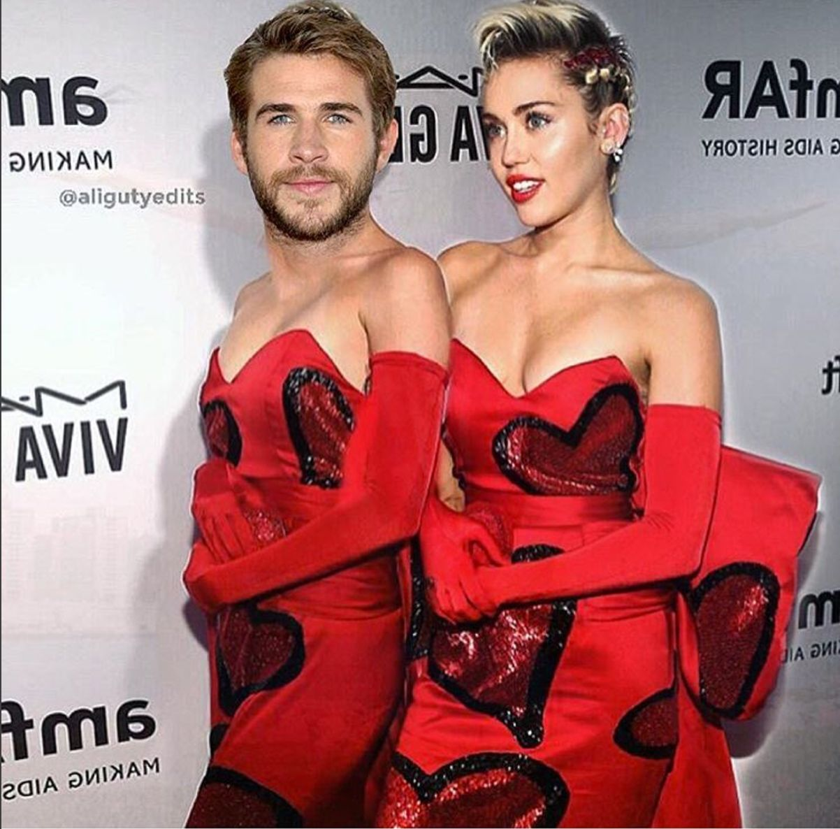 You Won't Be Able To Unsee This Adorably Weird Photo Of Miley Cyrus And Liam