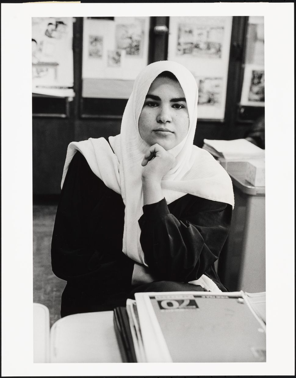 "Mel Rosenthal, ""Iraqi Muslim Girl in English as a Second Language Class,"" 1999."