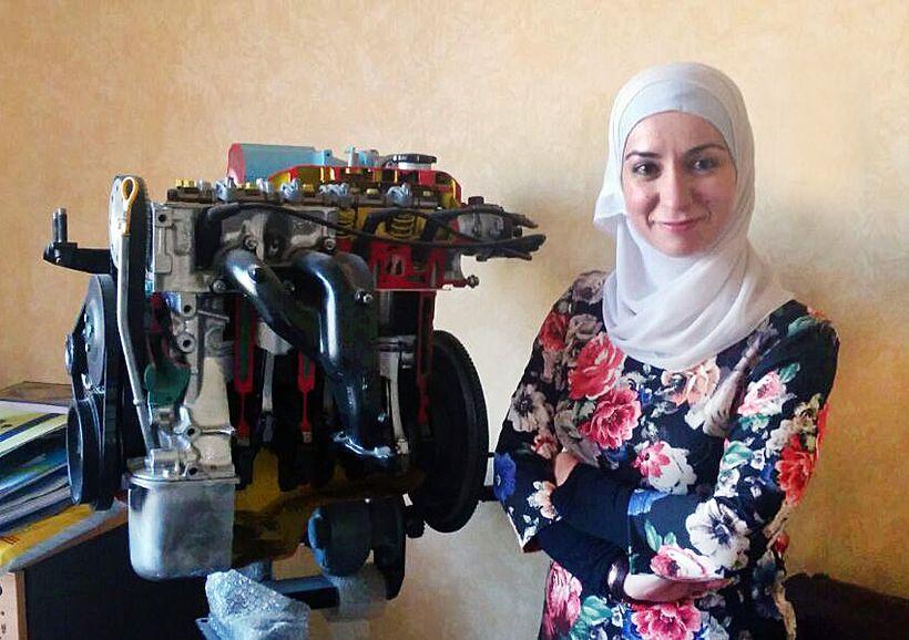 Maleeka Mohammed, winner of Bank Al Etihad's award for businesswoman of the year
