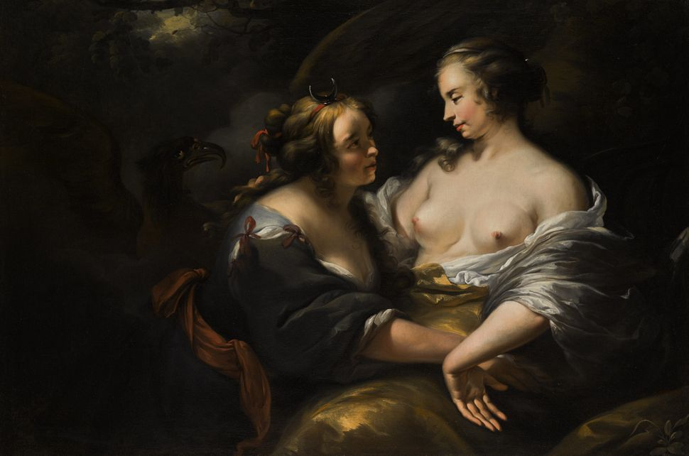 "Nicolaes Pietersz, Berchem and studio, ""Jupiter disguised as Diana seducing the nymph Callisto,"" 1620-1683. (Est. £30,0"
