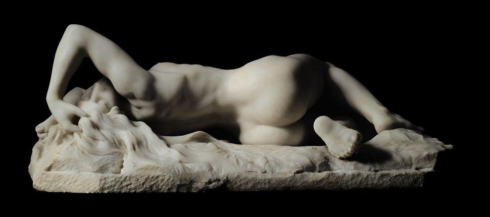 "Jacques Loysel, ""La Grande Névrose,"" circa 1896. White marble. (est. £120,000 to £180,000.)"