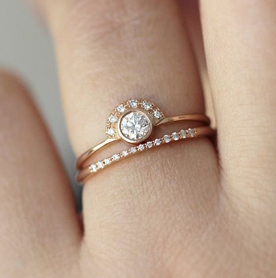 delicate rings ykhbxnt elegant diamond gold wedding