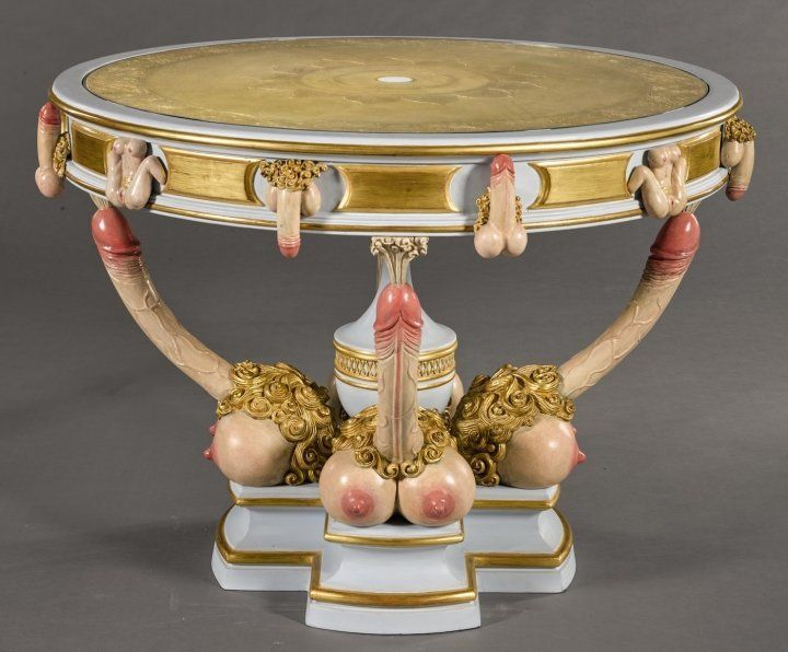 A painted plywood table, after that supposedly delivered to Catherine the Great, modern. (Est. £15,000 to £20,000