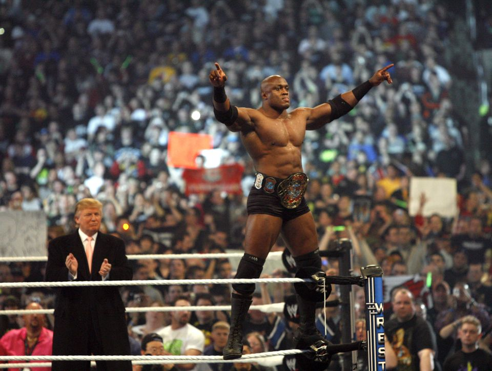Bobby Lashley, Trump's wrestler in the match, was a rising star who'd go on to challenge for the...