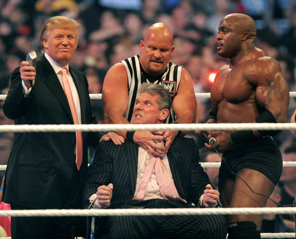 Even as he was shaving McMahon's head, Trump knew that he'd soon join the list of the match's