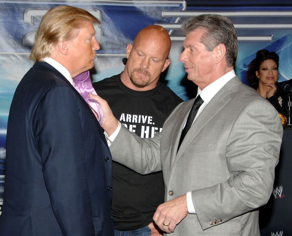 Donald Trump, Stone Cold Steve Austin and Vince McMahon spent months promoting The Battle of the