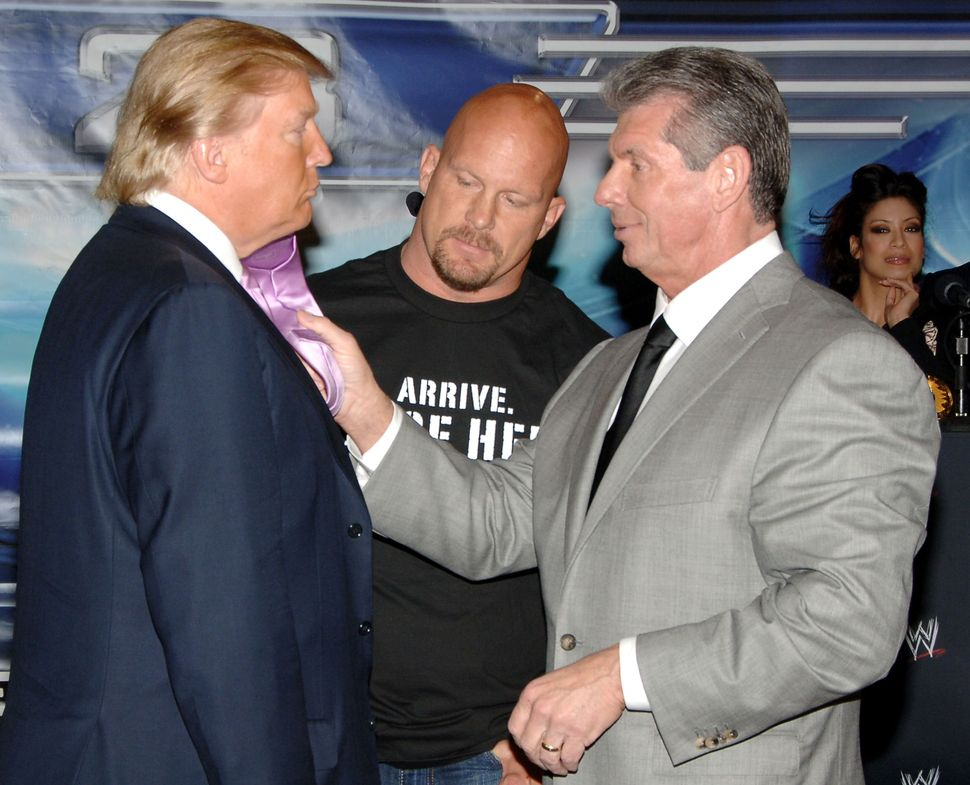 Donald Trump, Stone Cold Steve Austin and Vince McMahon spent months promoting The Battle of the Billionaires.