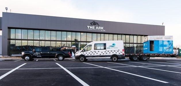 The Ark is located in a cargo building at JFK