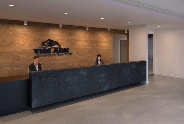 The Ark's reception area greets owners who drop offtheir pets for a