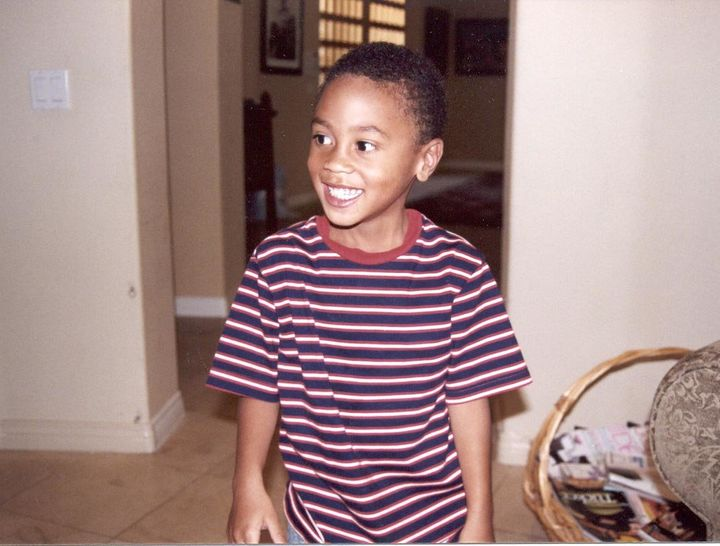 A young RJ Peete, who was diagnosed with autism at age 3.
