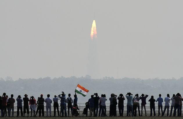 The Indian Space Research Organisation Polar Satellite Launch Vehicle was launched into space on