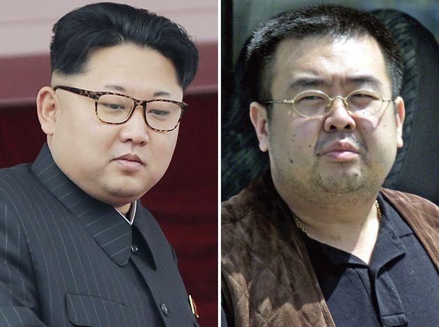 North Korean leader Kim Jong Un, left, and his brother Kim John