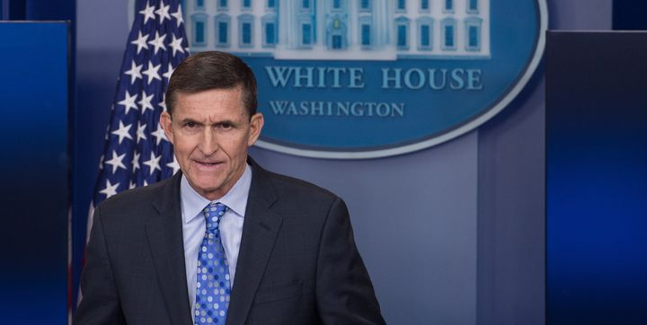 "Former National Security Adviser Mike Flynn put Iran ""on notice"" during the daily press briefing at the White House in W"