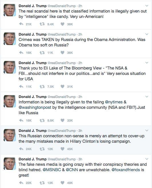 news politics donald trump twitter compliment insult