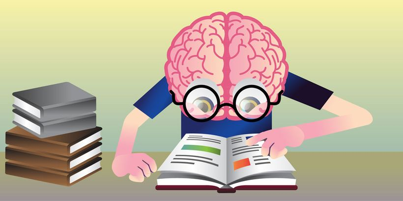 <strong>Kid friendly graphics.</strong> This is an example image from an article about 'The reading brain.' All graphics in F