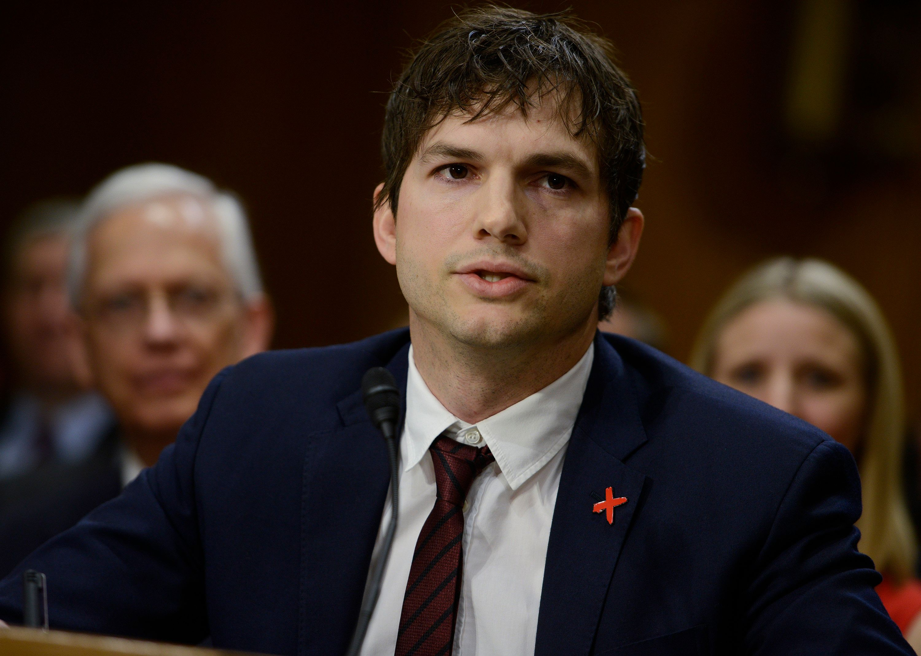 Ashton Kutcher Gives Emotional Testimony At Hearing To End Modern
