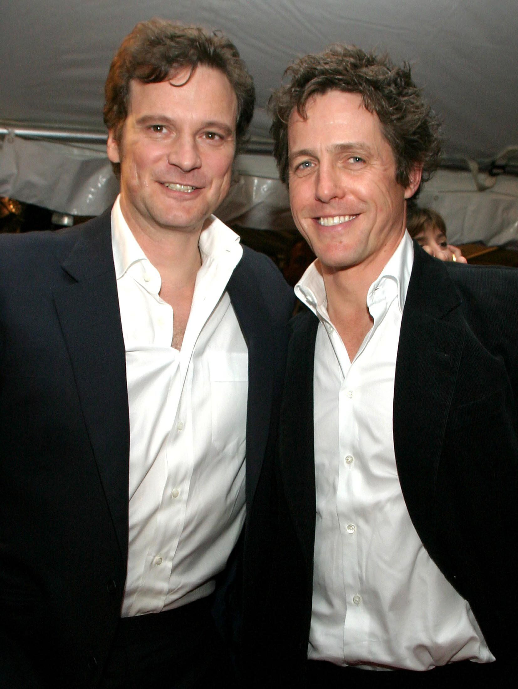 Colin Firth and Hugh Grant, seen here in 2003, are getting ready for a reunion.