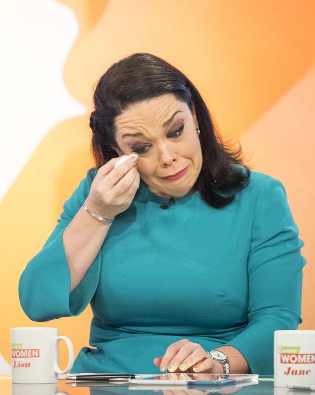 Watch Andrea McLean breaks down in tears on Loose Women video