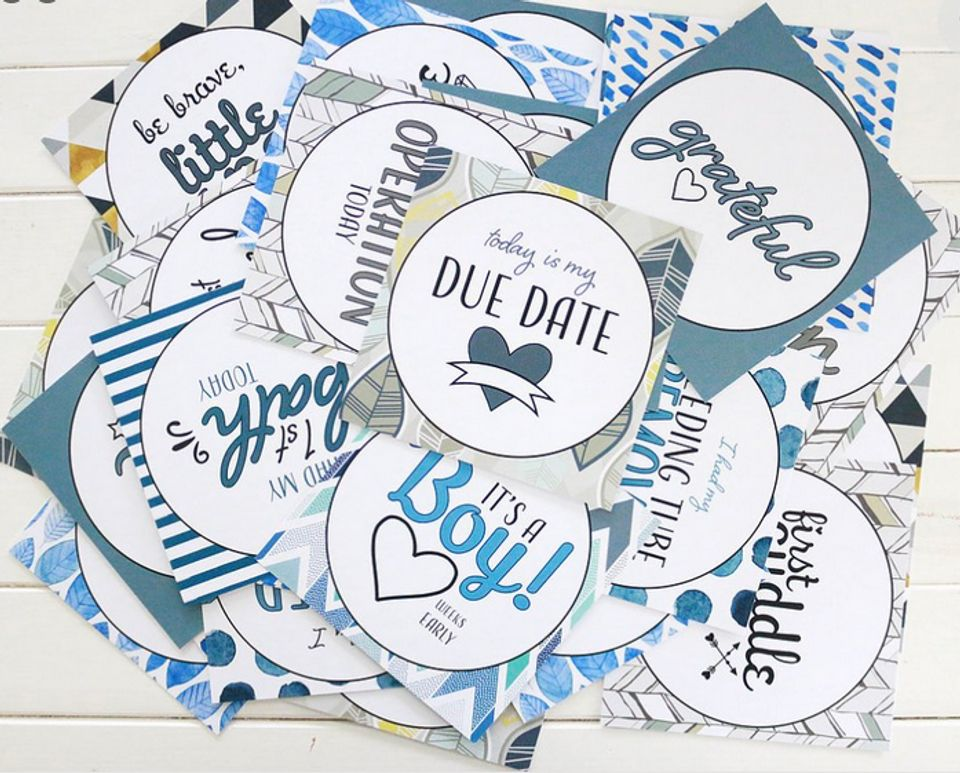 Wipeable Preemie Baby Gift UK Premature Baby Achievement Cards