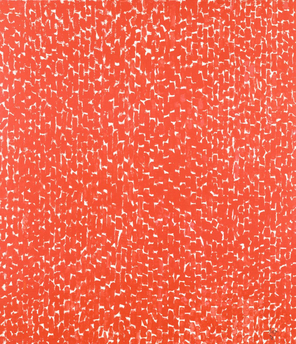 "Alma Thomas, ""Antares,"" 1972, acrylic on canvas, 65 3/4 x 56 1/2 in. (167.0 x 143.5 cm)"