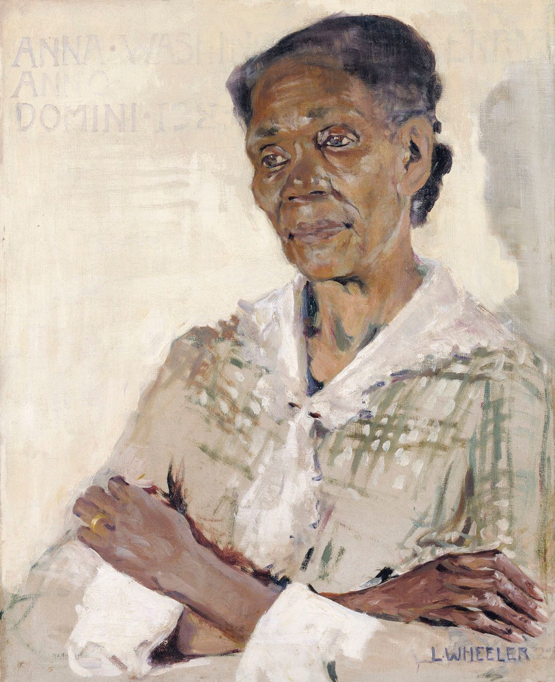 "Laura Wheeler Waring, ""Anna Washington Derry,"" 1927, oil on canvas, 20 x 16 in. (50.8 x 40.5 cm)"