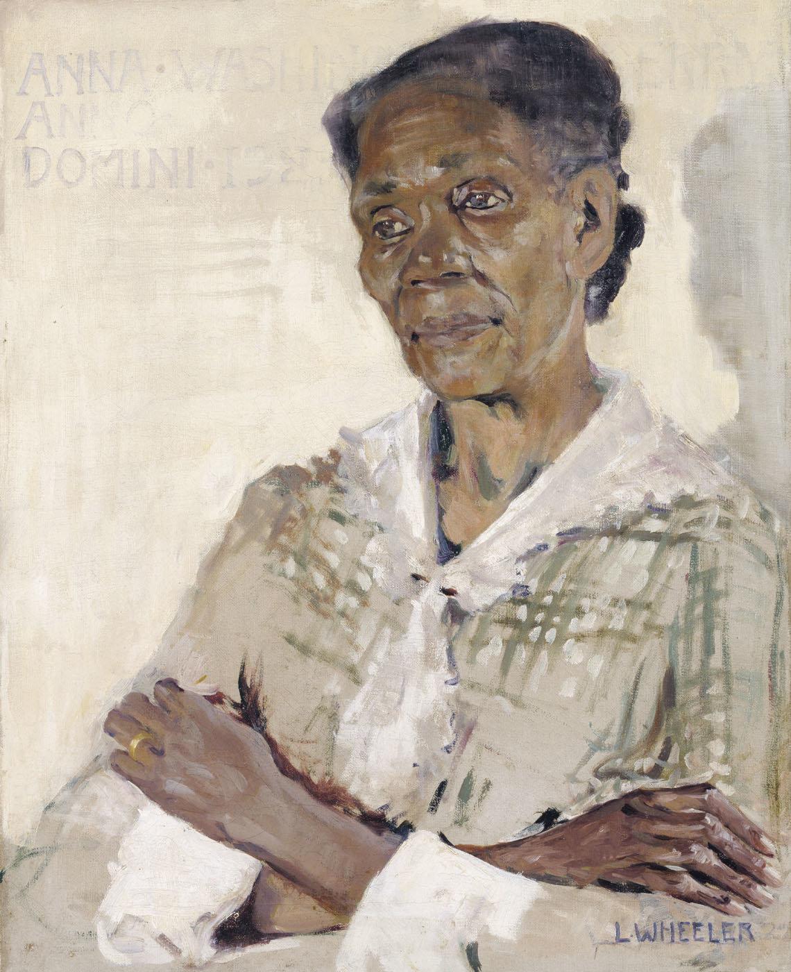 "Laura Wheeler Waring, ""Anna Washington Derry,""1927,oil on canvas, 20 x 16 in. (50.8 x 40.5 cm)"