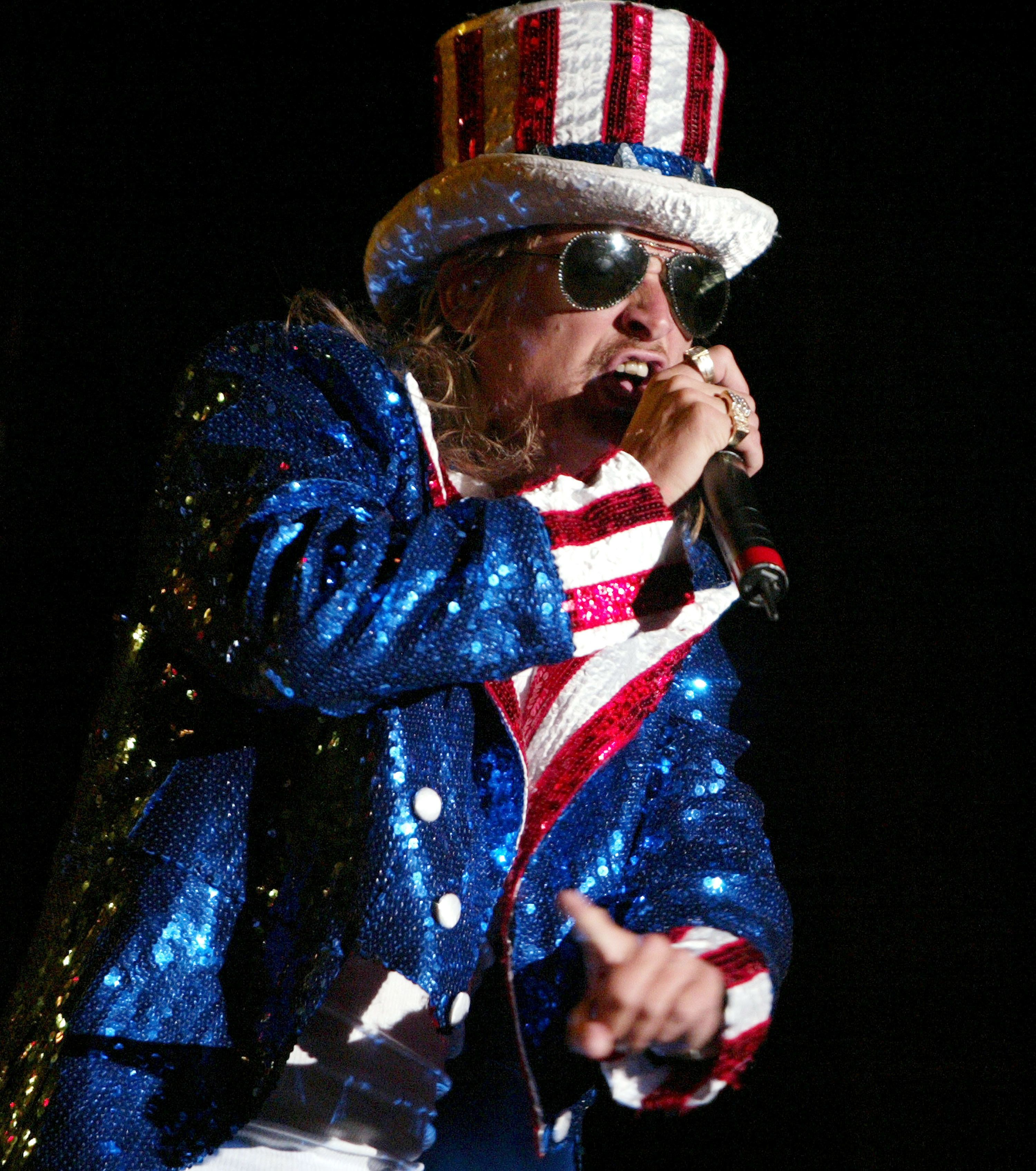 Kid Rock during Kid Rock's 4th of July Performance at Trump Taj Mahal Casino at Trump Taj Mahal Casino in Atlantic City, New Jersey, United States. (Photo by Chris Polk/FilmMagic)