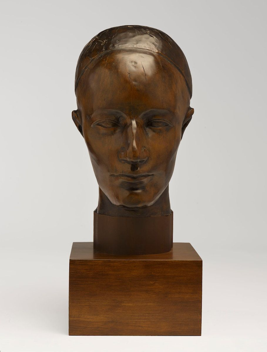 "Nancy Elizabeth Prophet, ""Untitled (Head),"" ca. 1930, wood, head without base: 12 1/2 x 6 1/2 x 7 in. (31.8 x 16.5 x 17.8 cm)"