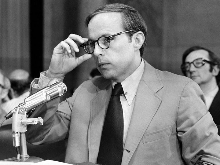 John Dean testifying before the Senate Select Committee in June 1973