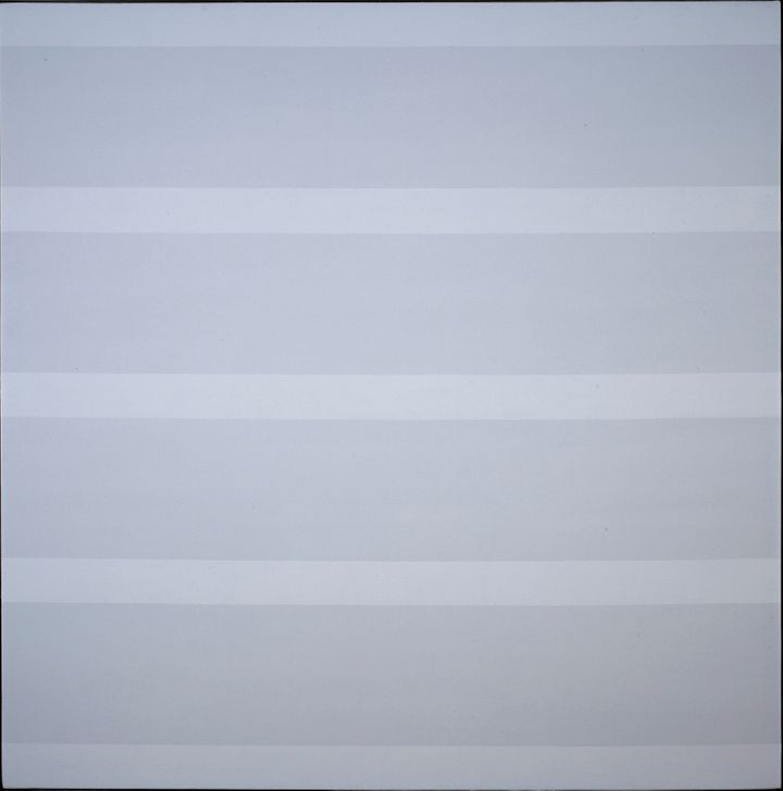 "And this one. (Agnes Martin's ""Untitled #7,"" 1992-1993.)"