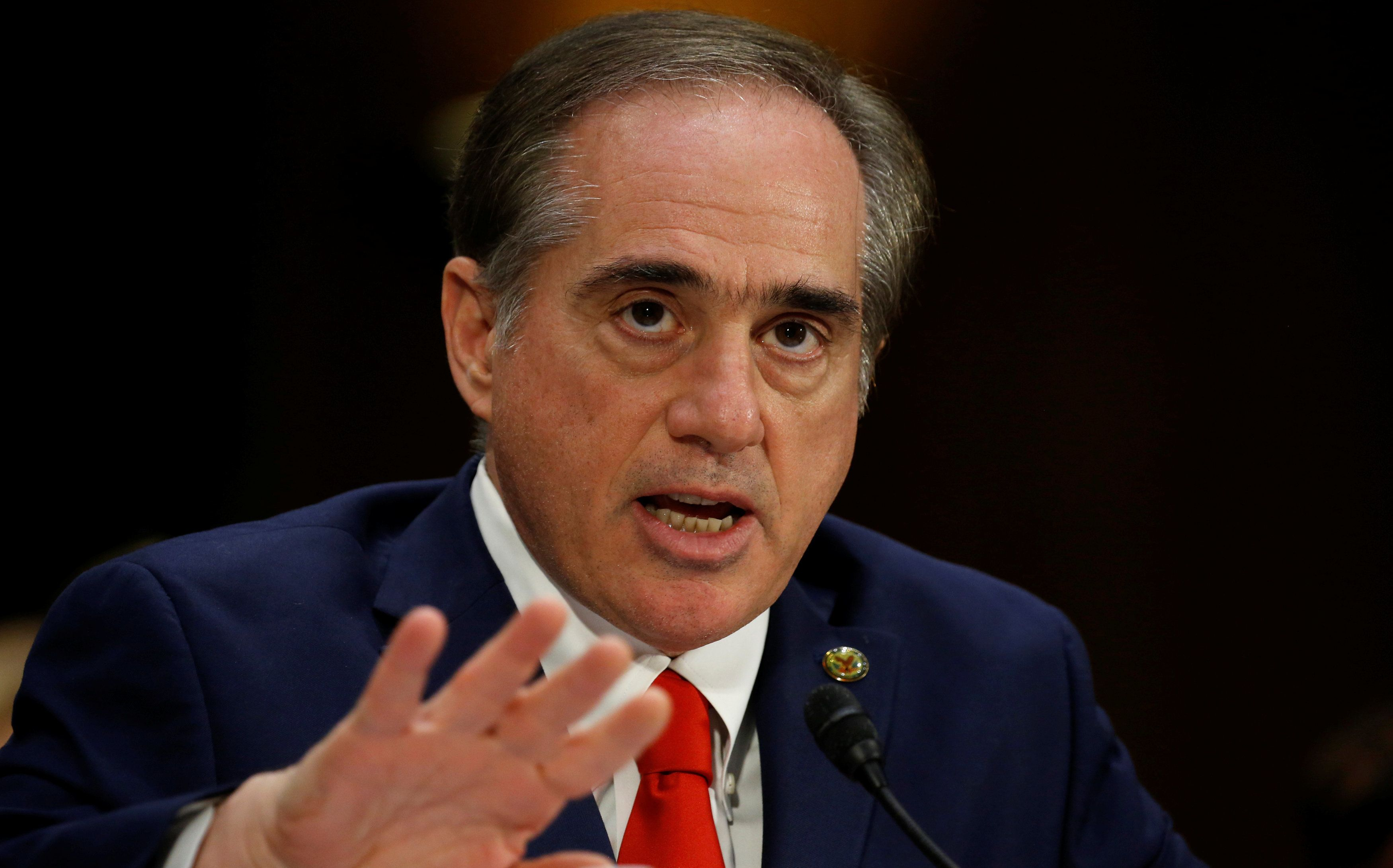 David Shulkin testifies before the Senate Veterans Affairs Committee during his confirmation hearing on his nomination to be Veterans Affairs secretary on Capitol Hill in Washington, U.S., February 1, 2017.  REUTERS/Kevin Lamarque
