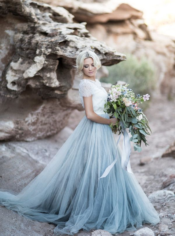 25 Two-Piece Wedding Dresses For Brides Who Dare To Be Different ...
