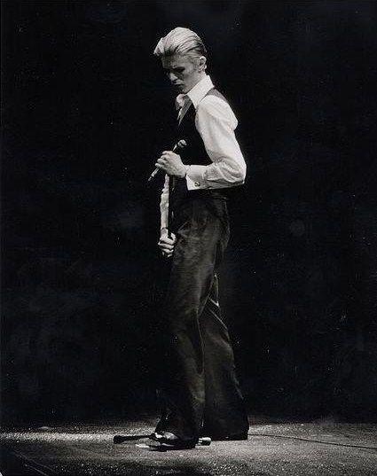 "The ""Thin White Duke"": David Bowie in 1976."